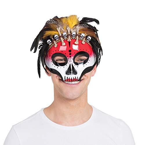Bristol Novelty Unisex Voodoo-Maske fr Erwachsene (Einheitsgrße) (Bunt)