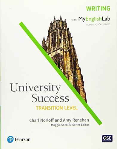 University Success Writing, Transition Level, with MyEnglishLab