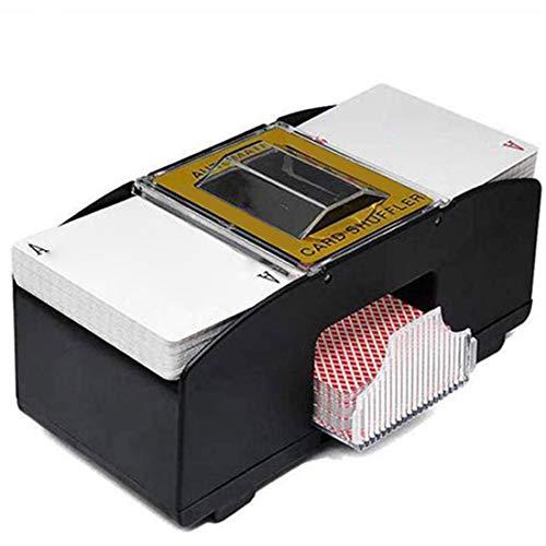 jfhrfged Kartenmischmaschine, Spielkarten Shuffle Machine Automatische Kartenmischer Card Shuffler 20x10x9.5cm (Schwarz, Größe: 20x10x9.5cm)