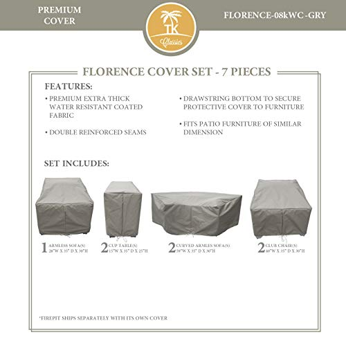 TK Classics FLORENCE-08k Protective Cover Set, in Grey Grey