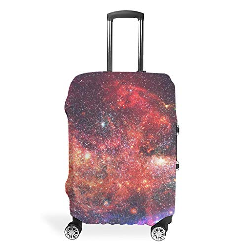 Travel Luggage Case Cover Protector – Room Print Suitcase Protector 4 Sizes for Protective Luggage, White (White) - BTJC88-scc