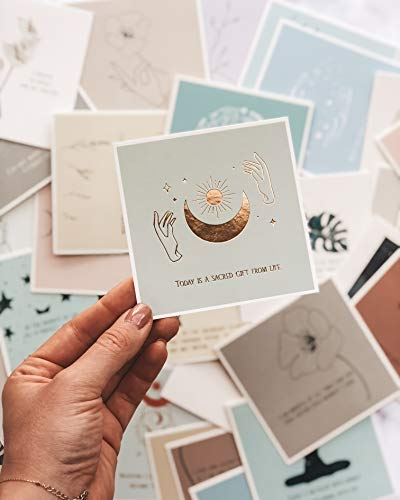 Lamare Affirmation Cards - Oracle & Tarot Deck Meditation Accessories Cards & Cute Desk Decor I Greeting Cards, Sympathy Cards, Relaxation & Self Care Gift Box, Unique Stress Relief Gifts for Women