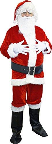 Farfouil in festa costume babbo Noel guasto di velluto