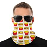 Cheeseburgers-And-FriesScarf Cover Mask Gaiter Tube Variety Head Scarf, Multifunctional Bandanas & Balaclava Anti Dust for Outdoors, Festivals, Sports