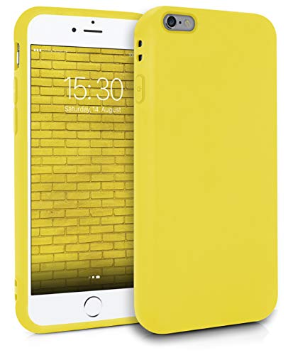 MyGadget Funda Slim para Apple iPhone 6 Plus / 6s Plus en Silicona TPU - Resistente Carcasa Flexible & Protectora - Friendly Pocket Case - Amarillo