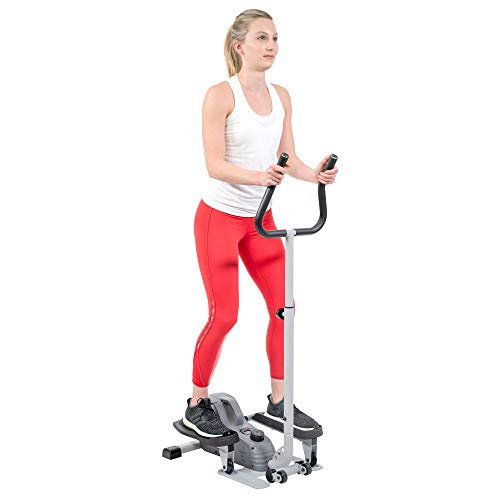 Product Image 9: Sunny Health & Fitness Magnetic Standing Elliptical with Handlebars – SF-E3988, Grey