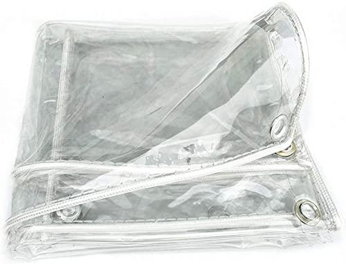 Abdeckplanen,Mehrzweck-PVC-Planenabdeckung, transparente regenfeste wasserdichte Plane, Kunststofffenster-Windschutzscheiben-Leinwand ideal für Überdachungszelt, Boot,...