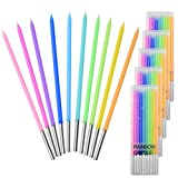 Marrywindix 50 Count Birthday Candles Long Thin Rainbow Candles Cupcake Candles for Birthday Wedding Baby Shower Party Cakes Decorations