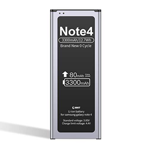 ZMNT-Akku für Samsung Galaxy Note 4 3300 mAh Hochleistungsakku Note4 Lithium-ION Entspricht dem EB-BN910BBE & ist mit dem SM-N910 SM-N910F SM-N9100 SM-N910H kompatibel