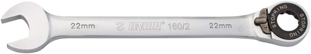 18mm 160//2 Unior Forged Ratcheting Combination Wrench