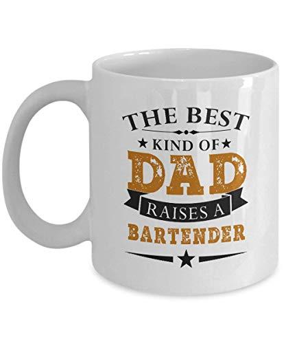 Taza de café divertida para regalo de papá de hija hijo divertido papá el mejor padre cria barman de cumpleaños