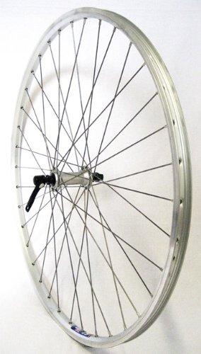 Vuelta 28 Zoll Fahrrad Laufrad Vorderrad Hohlkammerfelge Cut 19 Shimano Deore 610 Silber für V-Brakes/Felgenbremse