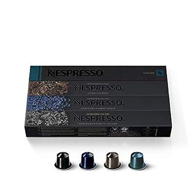 40 Nespresso OriginalLine Capsules: Roma 10, Ristretto 10, Dharkan 10, Kazaar 10 - ''NOT Compatible with VERTUOLINE''