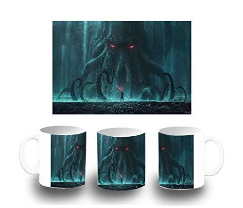 MERCHANDMANIA Weiße Tasse von Cthulhu Lovecraft Color Mug