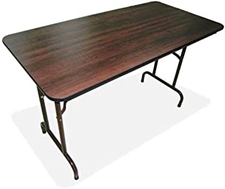 Lorell Folding Table, 96 by 30 by 29-Inch, Mahogany