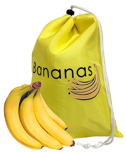 2 Pack Banana Bags - Drawstring Bag for Fresh Fruit up to 2 Weeks - FREE Branded Eyeglass Pouch