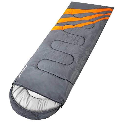 DLSM Sac de couchage pour adulte - Pour le camping - Portable - Pour l'hiver - Tente résistante au froid - Pour adultes chauds, Gris 1,35 kg