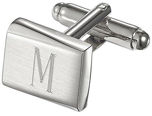 Visol Saturn personalizado acero inoxidable Gemelos con grabado letra M