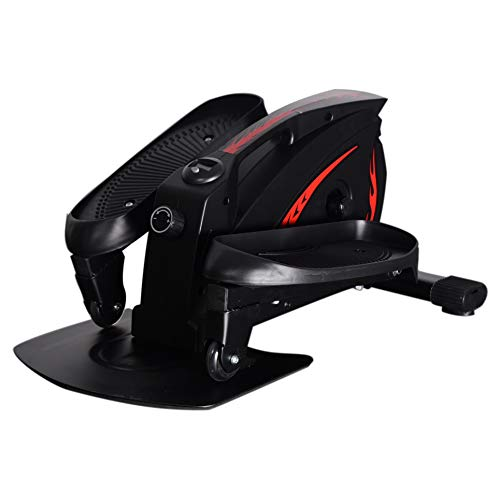 Leasbar Under Desk Elliptical Exercise Machine Mini Exercise Bike Cycle for Home Office Workout Exercise Equipment Pedal Exerciser Adjustable Resistance with Monitor 30dB Ultra Quiet