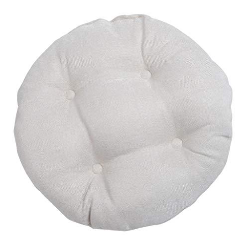 PETSOLA 30cm Weiß Runde Sitzkissen Sitzauflage