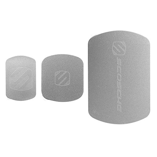 SCOSCHE MAGRKSGI MagicMount Magnetic Mount Replacement Plate Kit for Mobile Devices, Space Gray
