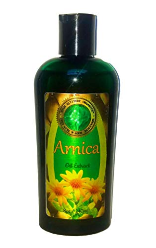 Arnica Oil Extract (Arnica Montana) - 8 oz- Pure and Potent- Anti-inflammatory for Sore Muscles, Bruises, Sprains, Fractures, Natural Pain Remedy, Sunburn, Post-Surgery Bruising.