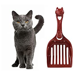 BENHAI Cat Litter Scoop Cat Poop Scoop Cat Litter Scoop With Stand Plastic Litter Scoop Durable Cat Litter Scoop Litter Tray Scoop Poop Scoop Cat Litter