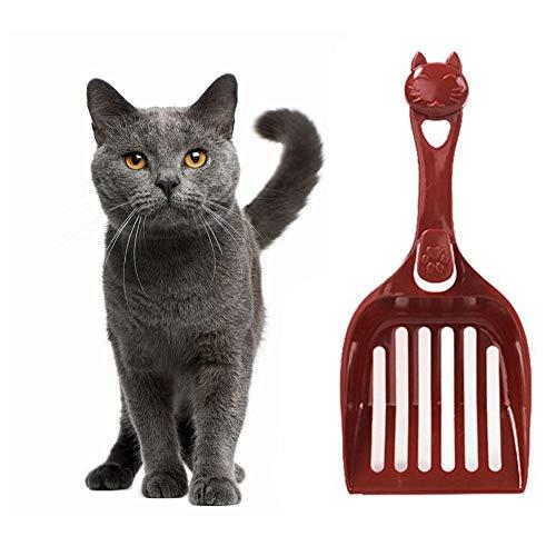 TTaceb Katzenstreuschaufel Katzenschaufel Dauerhafte Katzenstreuschaufel Plastikstreuschaufel Katzenstreuschaufel Mit Ständer Haustierstreuschaufel red