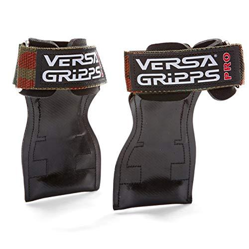 Versa Gripps PRO パワーグリップ 筋力トレーニング・リストラップ made in the USA (Camo/迷彩, SM:15.6-18.0cm)