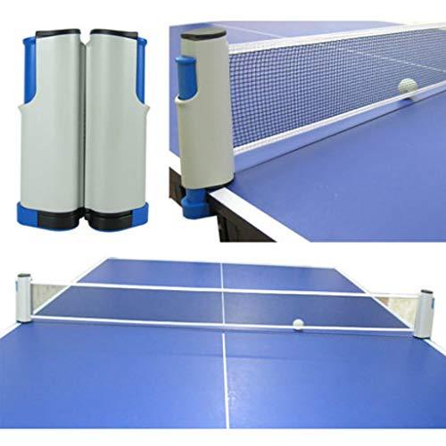 Redes y postes de ping pong Neta de tenis de mesa rack de cinturón universal de aislamiento telescópica neta media neta mesa al aire libre mesa de tenis de interior hogar bloqueo portátil libremente r