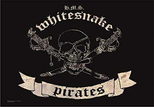 Pôster de tecido da bandeira Whitesnake Pirates 44x76 cm