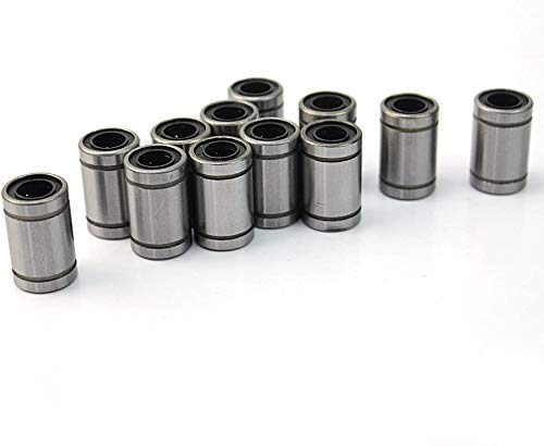 Lm8uu Linear Ball Bearing, Diameter 8mm, Outer Diameter 15mm, Length 24mm, Double-Sided Rubber Seal, Suitable for CNC, 3D Printers, 12 per Pack