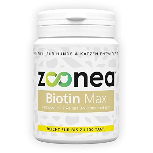 Zoonea Biotine Max (100 tabs - 150 g) tabletten - biotine + 7 andere B-vitaminen - kan een sterke, stralende vacht en klauwen bij honden en katten ondersteunen