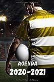 Agenda Quotidien Journalier scolaire 2020 2021 sport rugby du 1 septembre 2020 au 11 Juillet 2021 avec calendrier des vacances scolaires pour les zones A,B et C Format 6x9 pouce