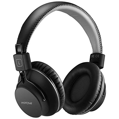 Mpow H1 Auriculares Bluetooth Diadema, Cascos Bluetooth Inalámbricos, Auriculares Inalámbricos Over-Ear Plegables con Micrófono Incorporado, Wireless Modo o con 3.5mm Cable para PC/Celulares/TV (Gris)
