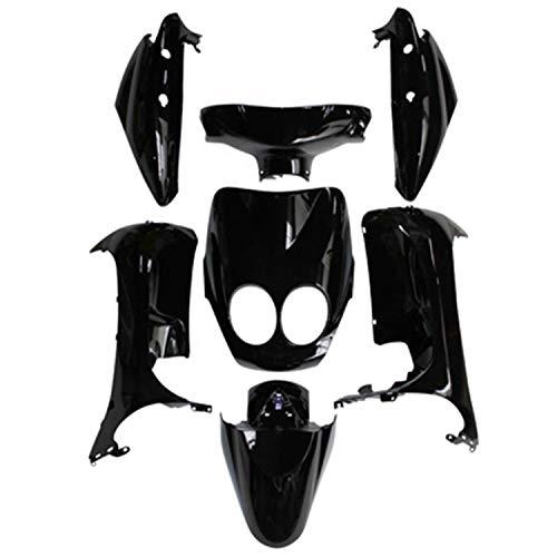 CARROSSERIE-CARENAGE Scoot Adaptable MBK 50 OVETTO 2008>2010 COMPTEUR Aiguille-Yamaha 50 NEOS 2008>2010 COMPTEUR Aiguille Noir BRILLANT (KIT 7 Pieces) -P2R-