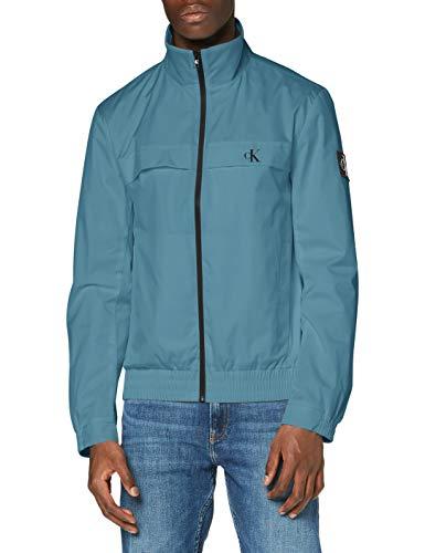 Calvin Klein Zip Up Harrington Giacca, Verde, S Uomo