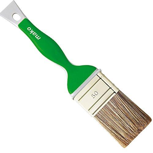 mako Lasur Flachpinsel mit ERGO-Griff Pinsel für Lasuren Lasurpinsel in 3 Größen, Breite:50 mm, Dicke:14 mm