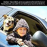 Aodoor Auto Hunde Sicherheitsgurt Hundegurt Sicherheitsgeschirr Hunde Adapter Autosicherheitsgurt Schwarz 18-27.5in 2 pack - 7