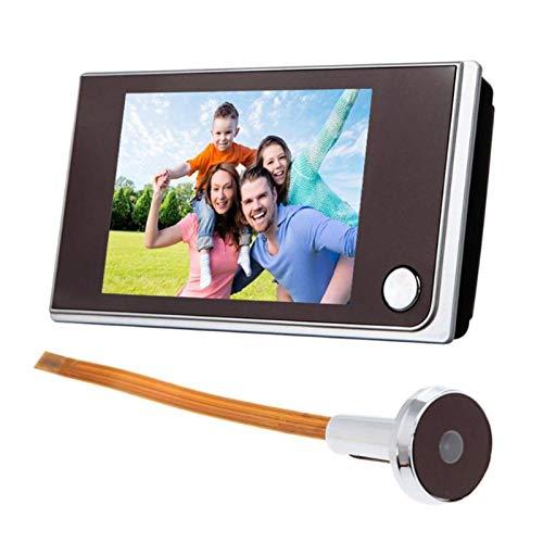 Sbeautli Timbre de 3,5 Pulgadas de Pantalla LCD en Color Digital de 120 Grados Puerta del Ojo de Timbre electrónico Mirilla Puerta Visor de la cámara de Hardware Fácil Instalación