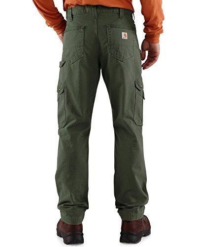 Carhartt Herren-Hose / -Arbeitshose, aus Baumwolle, Ripstop, legere Passform, solide, B342-MOS, Grün, B342-MOS