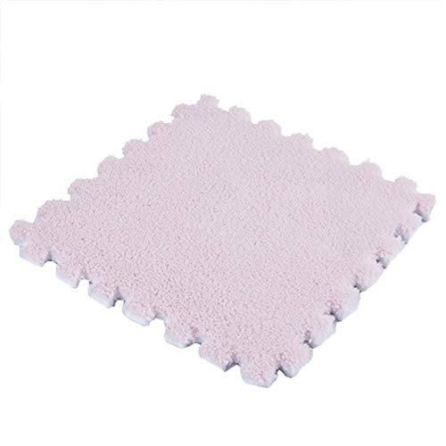 SimidunEUR Puzzlematte Bodenschutzmatte Teppich Look Bodenmatte Schaumstoff Matte Unterlegmatte,Hell-Pink,8 Pics (30 * 30) cm