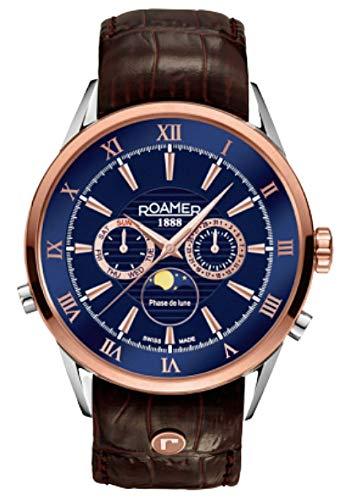 Roamer Superior Moonphase 508821 49 43 05 - Reloj de pulsera de cuarzo