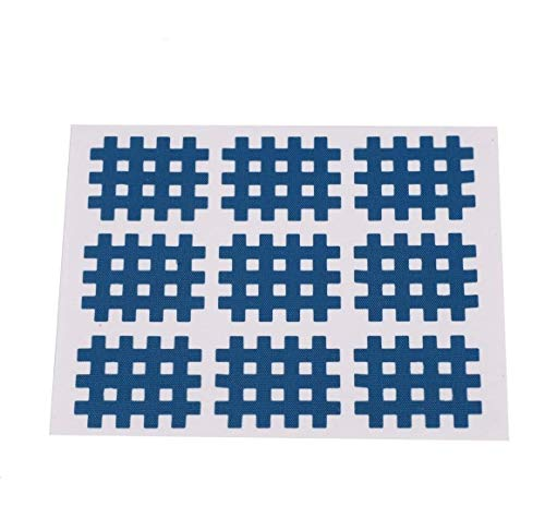 Niady 10PCS / Bag elastische Spirale Kreuz Kinesiologie-Tape Physiotherapie Kreuzbänder 74x98mm Deep Blue