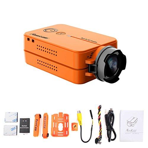 RunCam 2 FPV Camera 1080P60fps Ultra HD Mini WiFi Sports Action Video Camera, Orange