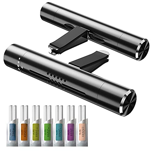 KMSCO Car Air Fresheners Scents Diffuser Vent Clips Perfume Essential Oil sticks Fro Women Men Automotive Fragrance Decoration Accessories(Black)