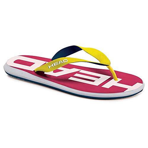 HEAD Unisex-Erwachsene Slipper Rebel Y&l Flip Flops Schwimmen und Wasserball Adult, Multicolor (Magenta-Gelb), 37 EU