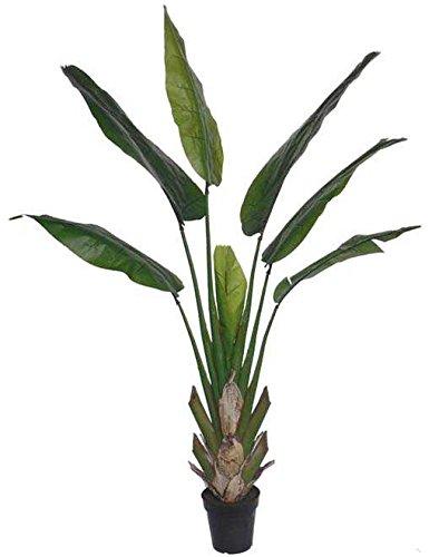 artplants.de Heliconia Artificial KASIYA, 7 Hojas, Verde, 210cm - Planta exótica - Planta Decorativa sintética