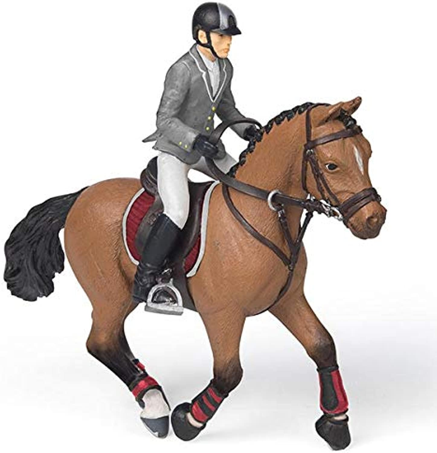 Papo 51561 Competition Horse with Rider Figures