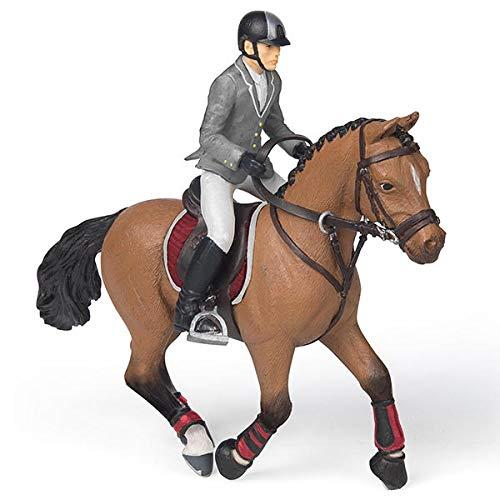 Papo 51561 - Figura de Caballo de competición con Jinete, F